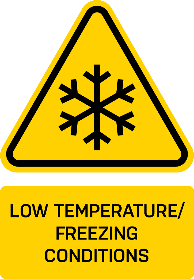 WARNING: LOW TEMPERATURE/FREEZING CONDITIONS